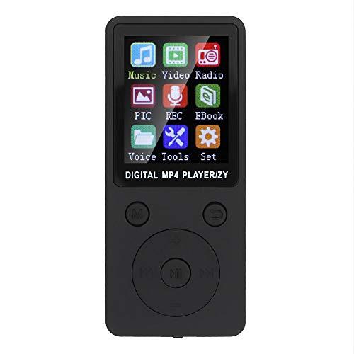 Socobeta Reproductor multifunción MP3 MP4 con Bluetooth 4.2 Función 32G Tarjeta de Memoria para Estudiantes(Negro)