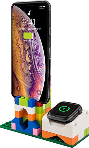 【SwitchEasy】 Apple Watch 充電 スタンド ブロック 充電ドック アクセサリー DIY おもしろ 充電スタンド 2 in 1 スマホスタンド 組み立て 可能 [ AppleWatch Series5 Series4 40mm / 44mm & Series3 Series2 series1 38mm / 42mm アップルウォッチ 対応 ] BLOCKS