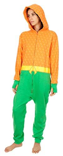 DC Comics Aquaman Pyjama à capuche pour adulte - - Large