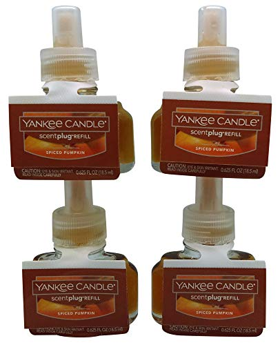Yankee Candle Spiced Pumpkin ScentPlug Refill 4-Pack