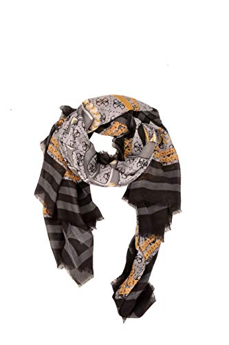 Guess Candace Printed Kefiah Scarf Black