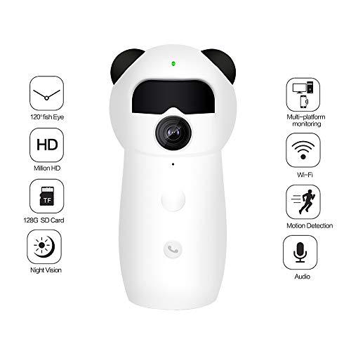 SHENGY 1080P HD Wireless Baby Monitor WiFi, cámara Cute IP Sala, con una Llamada inversa PIR Cuerpo Humano Alarma de detección, Apoyo para el Audio de Dos vías de visión Nocturna,Europeanstandardplug