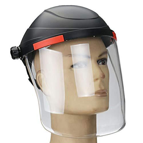 HEREB - Casco de soldadura transparente, protector facial de seguridad, protección contra rayos UV y antichoque 🔥