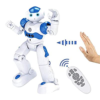 Smart-Robot Tippie - High-Tech Artificial Intelligence Robot, Multi-Function USB Charging Children's Educational Toy, Dancing Remote Control Programmable Robotics (Blue)