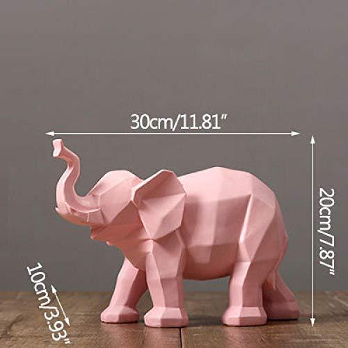 MYZF Estatuillas Escultura Decoración Estatuas Elefante De Origami Geométrico Elefante Blanco Y Negro Muebles De Decoración Escultura De Animales Decoración del Hogar Artesanía-3