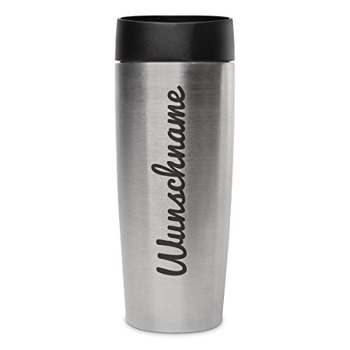 Metmaxx Thermobecher Isolierbecher Kaffeebecher 0,4l inkl. individueller Gravur - Schriftzug Name