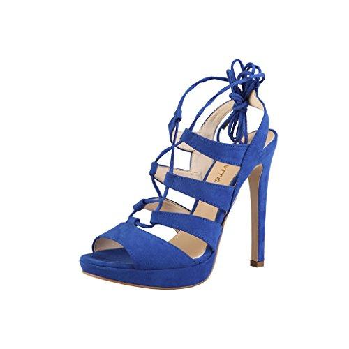 Made in Italia Damen Flaminia High Heels mit Schnürung (38 EU) (Königsblau)