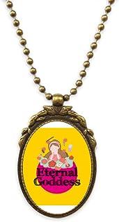 Women Goddess Beautiful Praise Antique Necklace Vintage Bead Pendant Keychain
