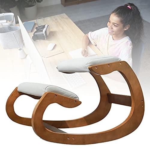 HNWTKJ Ergonomic Kneeling Chair, Fördert Kontiniuierliche Bewegung und Eine Gesunde Haltung, Orthopädischer Hocker Zur Korrektur Der Sitzhaltung, Optimal fürs Arbeiten Zuhause (Color : Gray)