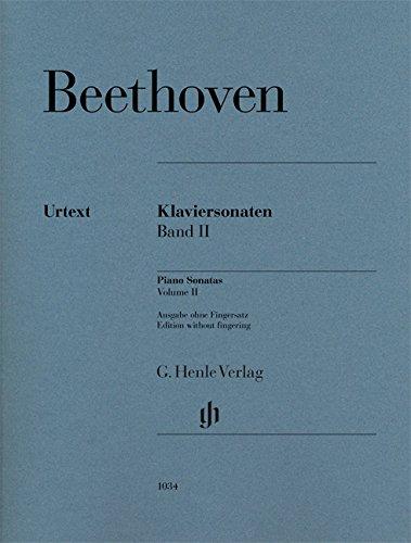 Klaviersonaten, Band II; Ausgabe ohne Fingersatz: Klavier zu zwei Händen; Ausgabe ohne Fingersatz