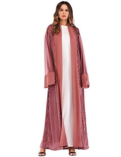 TAAMBAB Damas de Mujer Vestido Musulmán Abaya - Kimonos Vestido Largo Terciopelo Sueltos Abrigos Largos Boho Bata Kaftan Caftan Oriente Medio Ropa