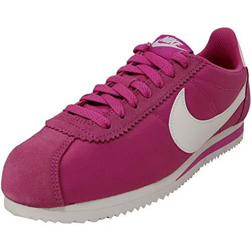 Nike Damen WMNS Classic Cortez Nylon Leichtathletikschuhe, Mehrfarbig (Active Fuchsia/Sail/Summit White 609), 38.5 EU