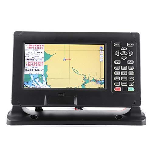 Marine GPS, 8-Zoll-Weitwinkel-Farb-LCD-Display Marine BDS/GPS Navigator 50000 Wegpunkte 500 Routen Kartenplotter Wasserdichter Navigations-Locator Unterstützung für C-Map für XINUO-MAP für Boot, Yacht