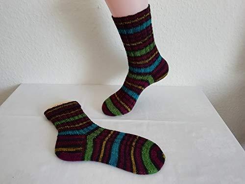 Handgestrickte Strümpfe Gr. 38/39, Socken gestrickt