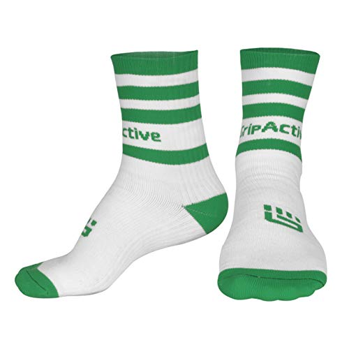 Grip Active Softers - Calcetines de media pierna unisex, color verde y blanco