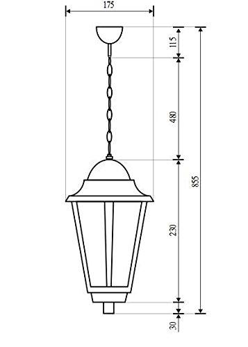 Éclairage Classique Extérieur Luminaire Suspension IP43 Blanc 2/4/802