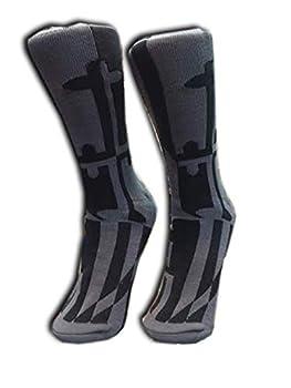 Socks - Maryland Flag Pattern -Gray  Medium