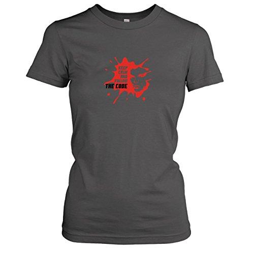 Texlab - Follow The Code - Damen T-Shirt, Größe M, Asphalt