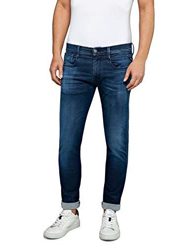 REPLAY Anbass Jeans, Dark Blue E05, 36W / 30L Uomo