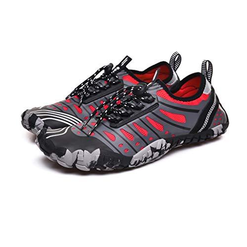 ZLDGYG Zapatos acuáticos para hombre y mujer de secado rápido, zapatos acuáticos, unisex, para playa, natación, surf, yoga (tamaño: 40)
