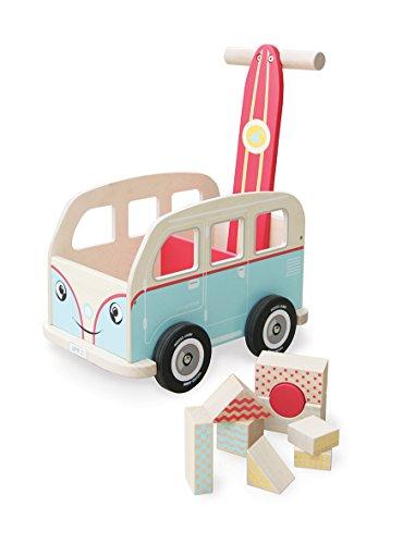 Indigo Jamm Colin Walkervan Activity - Andador de bebé con diseño de Retro clásico de Furgoneta para niños de 12 Meses Plus