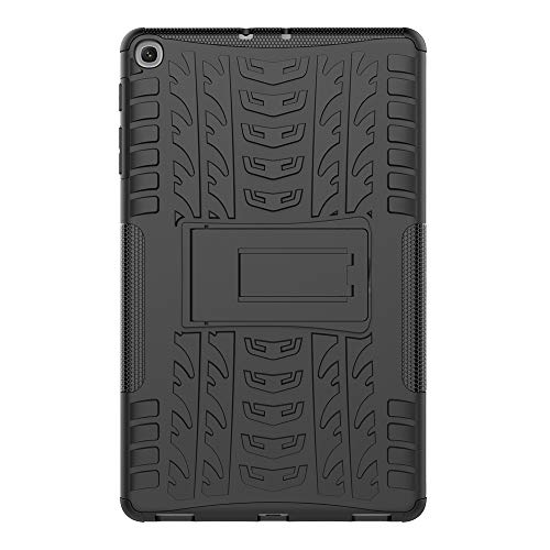 Sunrive Für Xiaomi Mi Pad 2 7,9 Zoll, Hülle Tasche Schutzhülle Etui Hülle Hybride Silikon Stoßfest Zwei-Schichte Armor Design schlagfesten Ständer Slim Fall(A schwarz)