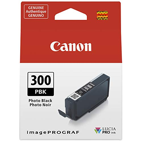 Canon PFI-300 Lucia PRO Ink, Photo Black, Compatible to imagePROGRAF PRO-300 Printer, Standard (4193C002)