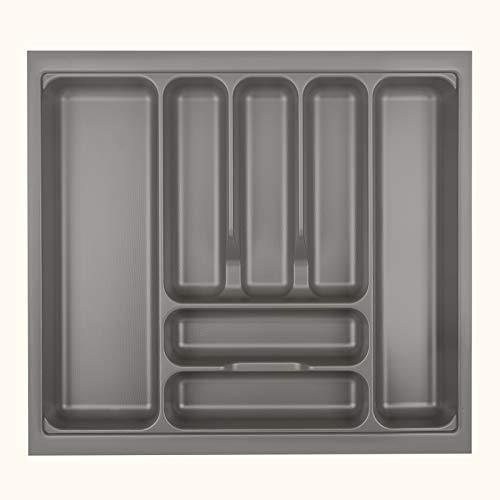 Orga-Box VIII Besteckeinsatz 511 x 480 mm Champagner mit Perlstruktur für 60er Schränke in Häcker Küchen Besteckaufbewahrung