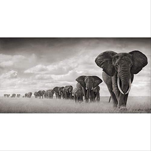 Art olifant schilderij muurschildering woonkamer met canvas afdrukken grote moderne decoratieve schilderkunst dierlijke foto's 20x40cm e olifanten