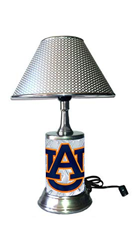 JS Table Lamp with Shade, Your Favorite Logo Diamond Plate Rolled in on The lamp Base, AuTi