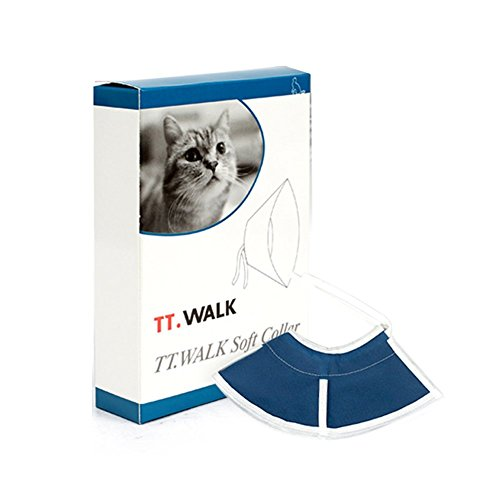 Pethouzz Soft Cat Recovery Collar, Cat Cone Collar, Nonwoven Fabric Elizabeth Collar, Specially Designed for Cats - Easy for Cats to Eat and Drink (S)