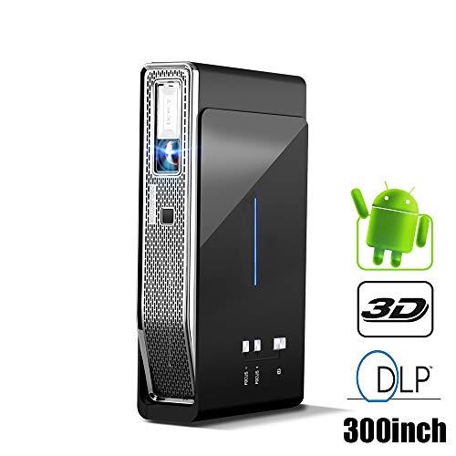 Android Projektor Mini 3D DLP Beamer WiFi Heimkino LED 3D DLP-LINK Der Videoprojektor unterstützt Voll HD 1080P 4K HDMI 3800 Lumen mit Einer kostenlosen 3D-Brille
