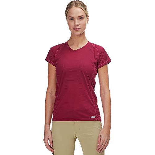 Outdoor Research T-Shirt à Manches Courtes pour Femme Echo S/S XL Garnet