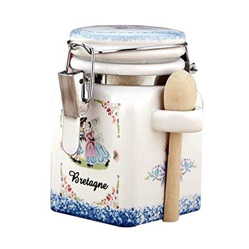 ABBY Sugar Bowl Pot de confiture en céramique boîtes de café Boîtes de Assaisonnement avec fermetures envoyer une petite cuillère Sugar Bowl céramique
