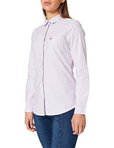 Springfield Camisa Oxford Algodón Orgánico, Morado/Lila, 38 para Mujer