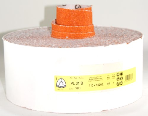 25 m Rôle Papier abrasif Nettoyant schleifrolle du papier de verre Grain p40-p400