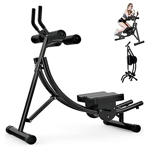 Panda Eye A partir de la máquina, costa de entrenamiento abdominal, altura ajustable, equipo de ejercicio completo con monitor digital, plegable, para gimnasio en casa, oficina