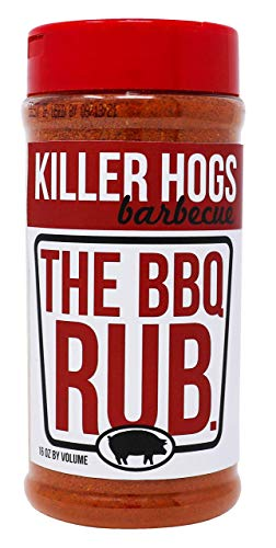 Killer Hogs The BBQ Rub | Championship Grill Seasoning for Beef, Steak, Burgers, Pork, and Chicken | 16 oz