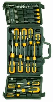 Blinky BK-52 gereedschapsset in koffer, 52 delen, schroevendraaier en bits