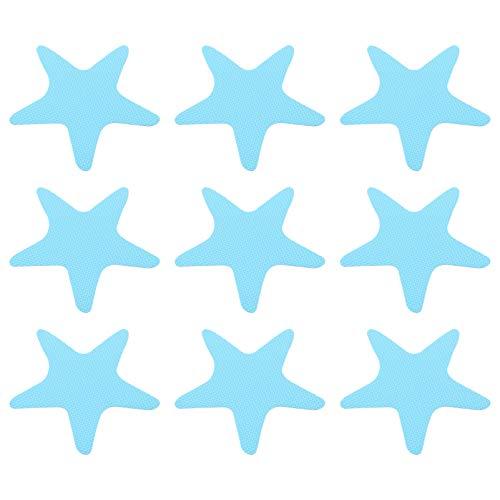 Hemoton 20 Piezas Antideslizantes Pegatinas de Ducha para Bañera Bañeras de Baño Tiras de Seguridad Duchas de Baño Huellas de Estrellas Calcomanías Adhesivas Apliques para Superficies de