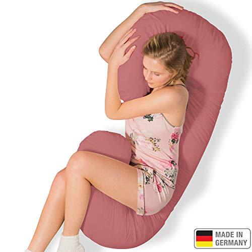 Traumreiter Schmousi - Almohada para dormir de lado con funda de color rosa claro