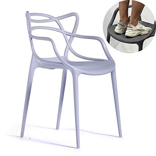 Stuhl, Weinstock, hoher Hocker, stapelbar, Küche Kunststoff Barhocker Möbel mit Rückenlehne und Armlehnen, geeignet für Esszimmer