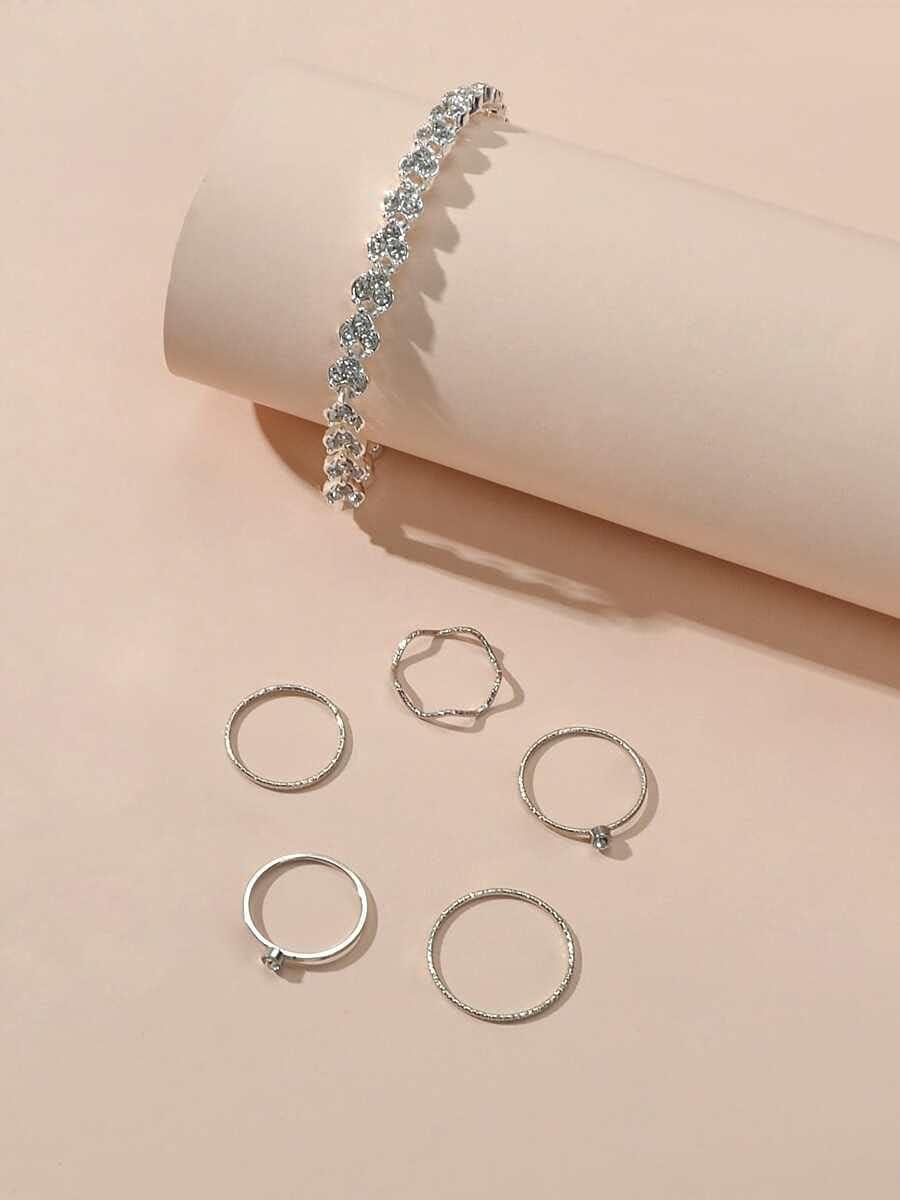 ZHAWE Women's Jewelry Set Series Choice Rhinestone 1pc 5pcs Max 83% OFF Bracelet