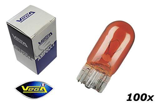VEGA 100 Ampoules Clignotant WY5W W5W T10 Orange 12V