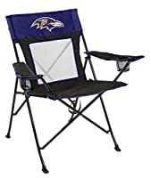 Rawlings NFL Game Changer Large Folding Tailgating and Camping Chair, with Carrying Case, Baltimore Ravens