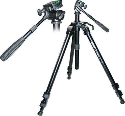 Sunpak 620-777B Ultra Pro Tripod with Bubble Level & Quick Release Plate