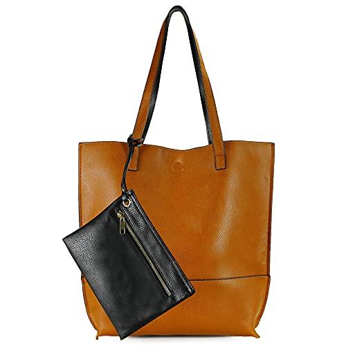 Scarleton Reversible Tote bag for Women, Shoulder Bag for Women, Purses for Women, Handbag for Women, Hobo bag, H20182501 - Brown