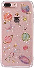 iPhone 8 Case/iPhone 7 Case(4.7inch),Blingy's New Fabulous Shiny Glitter Planets Pattern Bling Bling Transparent Clear Flexible Soft Protective Case for iPhone 8/iPhone 7 (Clear Planets)