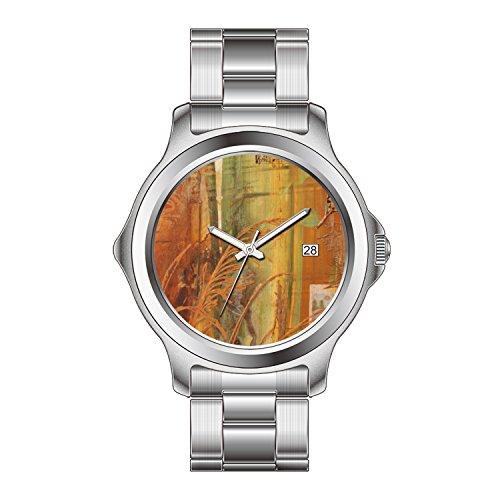 FDC Weihnachten Geschenk Uhren Herren Mode Japanische Quarz Datum Edelstahl Armband Uhr Herbst Voliere Uhr