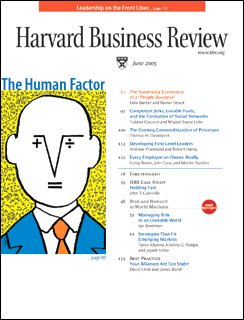 Harvard Business Review, June 2005 audiobook cover art